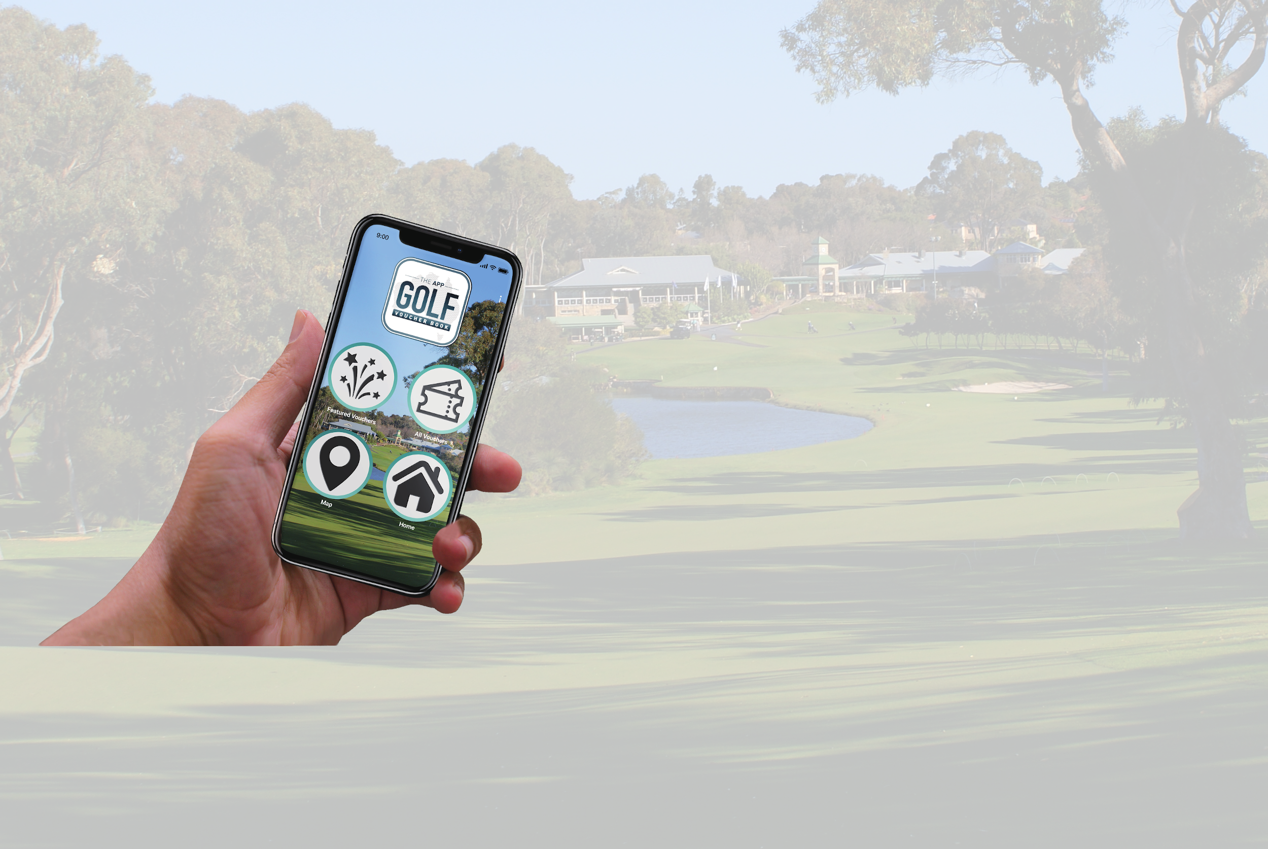 WELCOME TO THE NEW<br/>GOLF VOUCHER BOOK APP